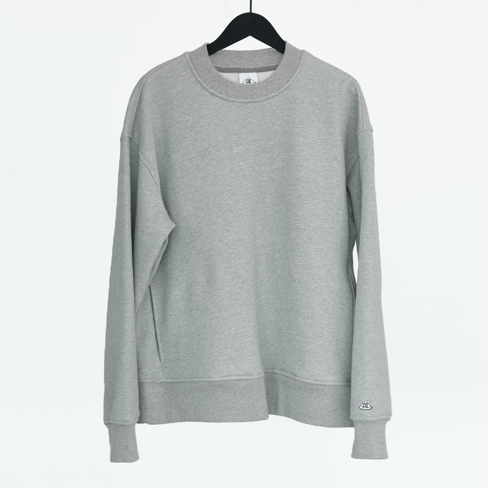 CHAMA SPORTS LAB.CSL Unisex Heavy Weight Sweat Shirt(M.Grey)